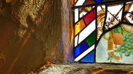 Light passes through the stained glass at St Margaret's Church in Herringfleet Picture: EXPLORECHURC