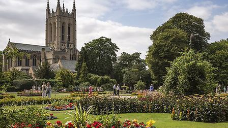The Abbey Gardens in Bury St Edmunds Picture: MARTIN GRAYLING