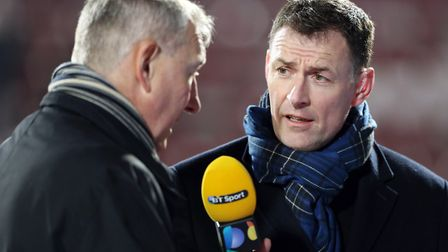 Chris Sutton, right. In Mike Bacon's opinion Sutton was a much better player than he is a pundit! Ph