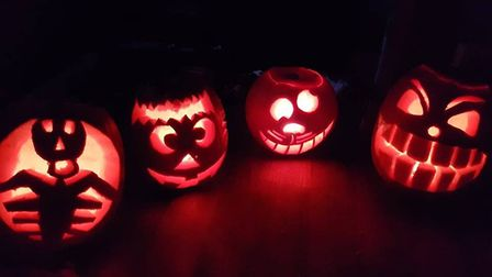 Four spooktacular carved pumpkins. Picture: DIANA MARIE CARTER