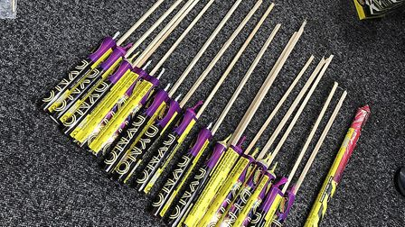 The fireworks seized in Colchester. Picture: ESSEX POLICE