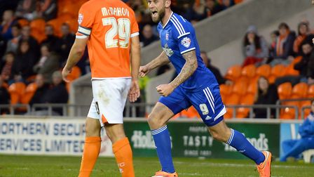 Daryl Murphy was among the scorers as Town beat Blackpool in 2014