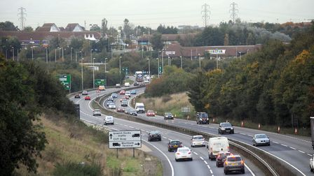 The A12 as it approaches the Copdock roundabout Picture: PHIL MORLEY