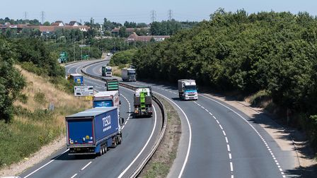 Approaching the Copdock roundabout on the A12 Picture: PAVEL KRICKA
