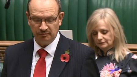 Sandy Martin speaking in the House of Commons. Picture: HOUSE OF COMMONS/Parliamentary TV