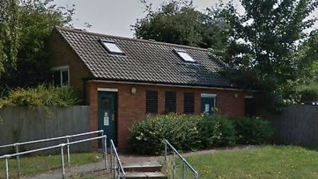 The former toilets in Long Melford which are set to become office space pending council approval Pic