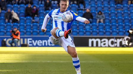 Luke Norris keeps his eye on the ball, during last weekend's 1-0 win over Lincoln City. Picture: ST