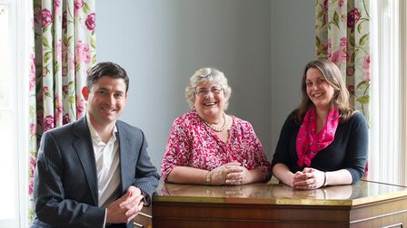 Roger Catchpole, Catherine Catchpole, and Ruth French, of Stowlangtoft Healthcare. Picture: HOLLY RI