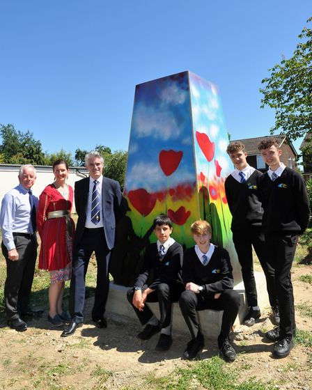 Students from East Bergholt High lend their artistic talents to the memorial exhibitions Picture: LU