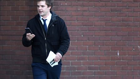 Ashley Buxton leaving Ipswich Magistrates' Court Picture: ARCHANT