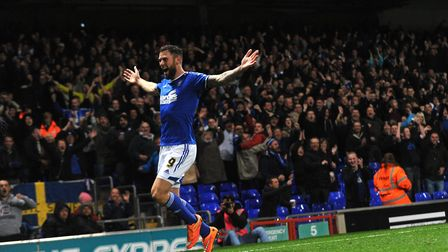 Daryl Murphy scored twice for Town in their 2-0 win over Wolves on this day in 2014