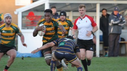 Tui Uru was Bury's stand-out player in their loss to Worthing. Picture: SHAWN PEARCE