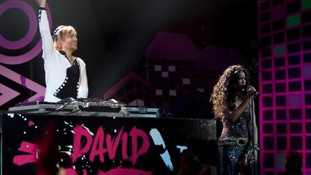 DJ Stand for David Guetta with Kelly Rowland Picture: PREMIER SIGNS