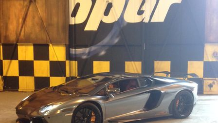 One of the wraps in Top Gear Studio Picture: PREMIER SIGNS