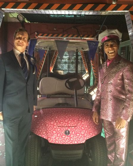 Printed golf buggy wrap for Red Dwarf Picture: PREMIER SIGNS