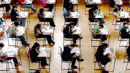 Not a laptop in sight in this 2005 exam picture. Picture: Rui Vieira/PA Wire