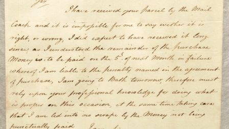 How much more it means to see Horatio, Lord Nelson's own handwriting. This letter is a part of the