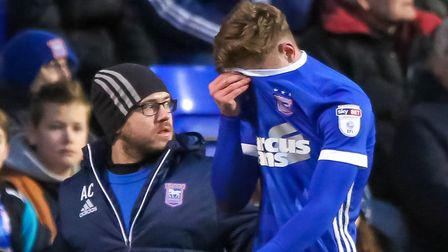 Teddy Bishop hasn't featured in a Championship game for Ipswich Town since rupturing his hamstring i