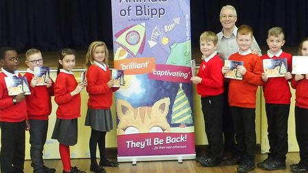 Kevin Bullock at Tollgate Primary School launching his new book - The First Christmas on Blipp Pictu