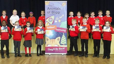 Children at Tollgate Primary School at The First Christmas on Blipp launch Picture: SUPPLIED BY KEVI