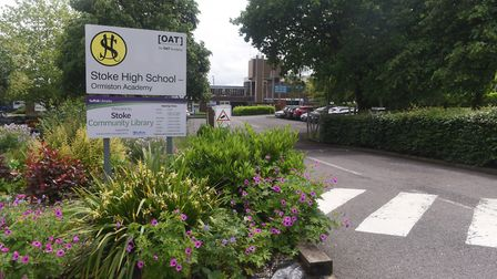 A pupil at Stoke High School in Ipswich is under investigation for allegedly lying about his age Pic