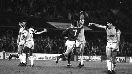 It was on this day in 1987, David Lowe scored twice in Town's win over Reading