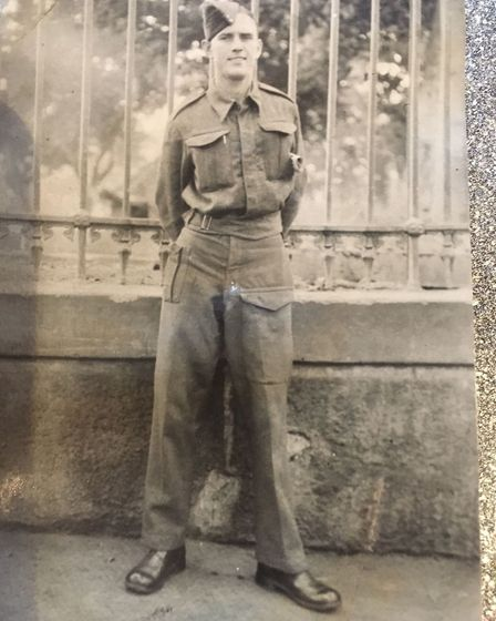 Eric Cook pictured in Cairo in 1943. Picture: ERIC COOK