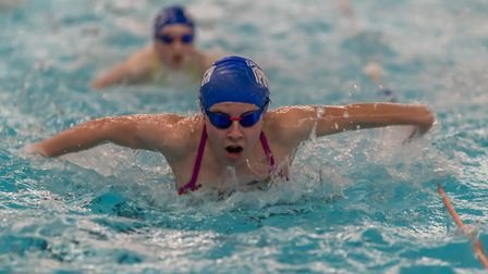 Teamipswich swimmers training at Crown Pools. Picture: PAVEL KRICKA