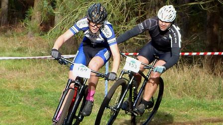 Josh Boyer (Ipswich BC) on his way to the Youth win at West Stow Photo: FERGUS MUIR