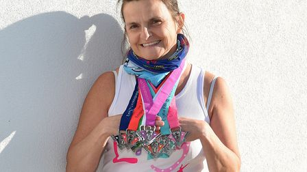Mandy Harley completed a massive seven marathons in seven days. Picture: NSFT