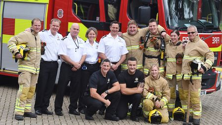The Suffolk Fire and Rescue Service are entering a team into the British Firefighter Challenge. Pict