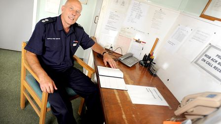 John Last has been a retained firefighter at Leiston fire station for 40 years. He is now officer in