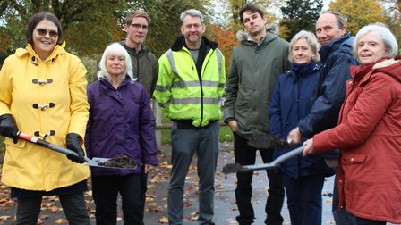 Left tp right: Councillor Margaret Maybury, public realm officer Sarah Carter, Jonathan Sandford fro