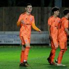Lewis Reed scored twice as Town U18s beat Bury Town 3-0 last night Picture: ROSS HALLS