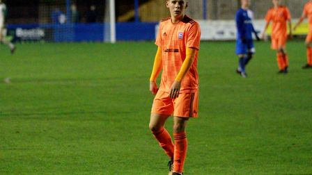 Lewis Reed scored twice as Town U18s won 3-0 at Bury Town in a friendly last night Picture: ROSS HAL