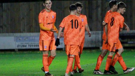Ipswich Town U18s beat Bury Town 3-0 in a friendly at Ram Meadow last night Picture: ROSS HALLS