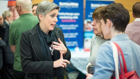 There was a good turn-out at the first Mid-Suffolk Business Exhibition at The Mix, Stowmarket in Mar