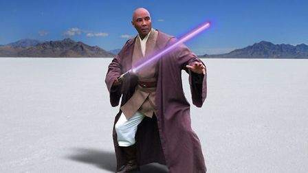 Star Wars stuntman Oliver Wilson who will be appearing at Moyse's Hall science fiction exhibition. P