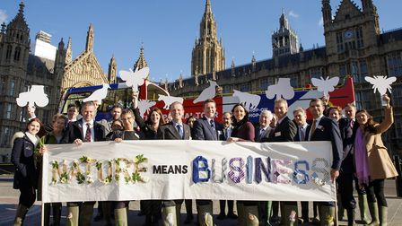 Farmers from the Nature Friendly Farming Network gathered in Westminster PICTURE: Tim Ireland/PA Wir