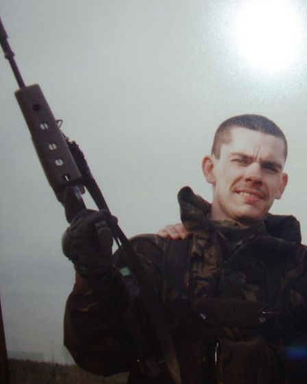 Gary Stockton whilst he was serving in Northern Island in 1990 Picture: GARY STOCKTON