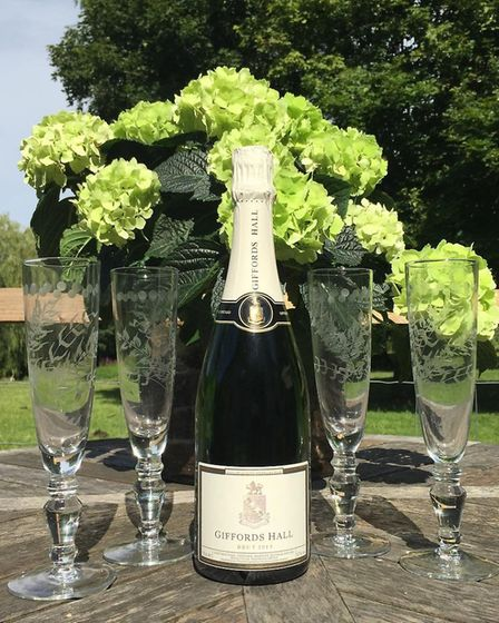 Giffords Hall's sparkling wine Picture: GIFFORDS HALL