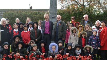 The dedication at the new war memorial Picture: WEST SUFFOLK COUNCILS