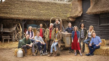 The whole Countryfile team. the show came to Suffolk for an episode due to air on November 25 (C) BB