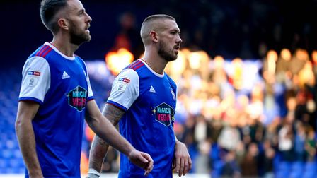 Cole Skuse, pictured with Luke Chambers, says the Ipswich Town players are not hiding from the fact