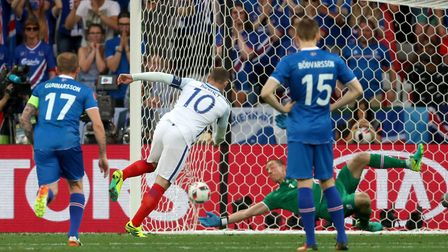 England's Wayne Rooney, doing what he did best for England. But should he be given another game two