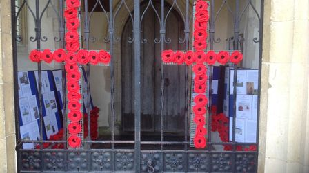 Two crosses at the church Picture: JANE BROWN