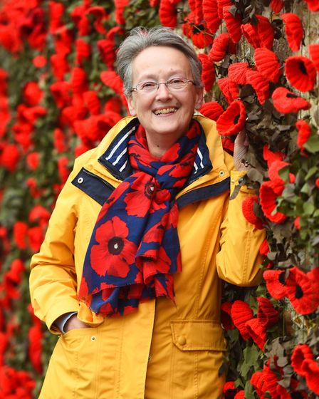 Jan Hall with last year's display Picture: GREGG BROWN