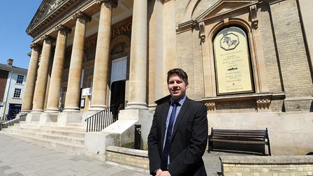 Manager Craig Uttley is pictured outside the Corn Exchange in Bury St Edmunds Picture: PHIL MORLEY