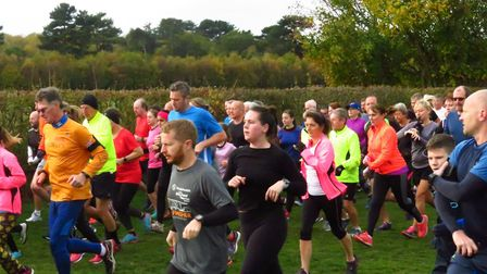The start of the 220th staging of the Kesgrave parkrun on Saturday morning. Picture: KESGRAVE PARKRU