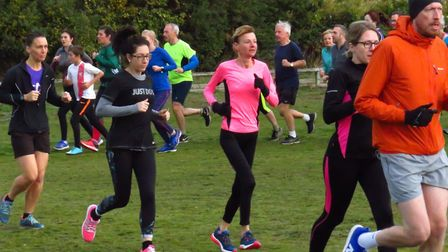 It was a colourful scene at the latest Kesgrave parkrun on Saturday. Picture: KESGRAVE PARKRUN FACEB